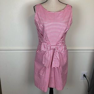 Kate Spade Pink White Striped Nautical Dress Sz 12
